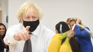 Boris Johnson on a visit to Monkey Puzzle Nursery, London