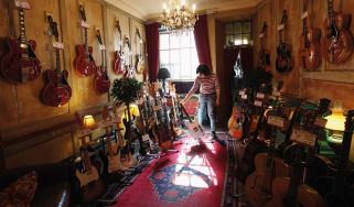 Denmark Street guitar shop