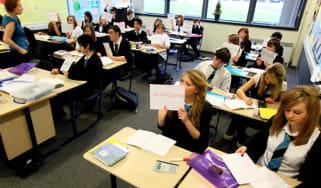 Students at a UK school