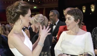 Olivia Colman meets the Duchess of Cambridge at the Baftas