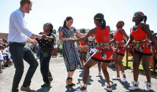harry meghan South Africa dancing