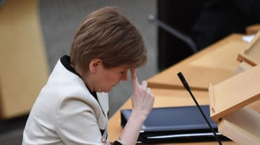 Nicola Sturgeon attends First Minister's Questions.