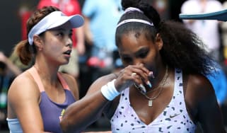 Serena Williams was knocked out of the Australian Open by Wang Qiang