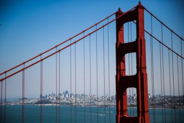 The Golden Gate Bridge in San Francisco, California, September 6, 2016.