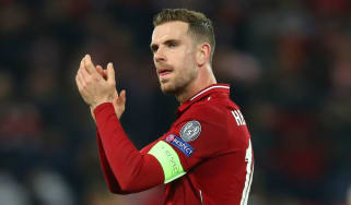 Liverpool skipper Jordan Henderson acknowledges the fans after the win against Porto at Anfield