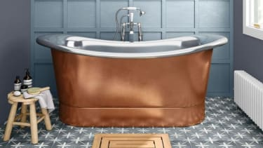 Copper-effect baths - 2021 bathroom design trends