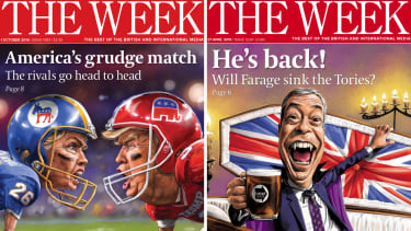 Two covers of The Week Magazine