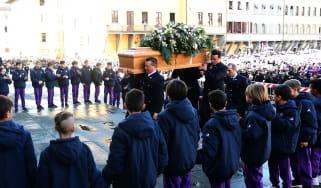 Davide Astori funeral Florence Fiorentina Italy