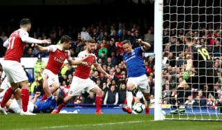 Phil Jagielka scored Everton's winning goal against Arsenal at Goodison Park