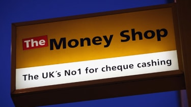 Sign outside The Money Shop on Brixton High Street