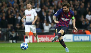 Lionel Messi Tottenham 2 Barcelona 4 Champions League