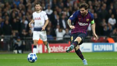 Lionel Messi Tottenham 2 Barcelona 4 Champions League