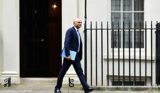 Sajid Javid on Downing Street