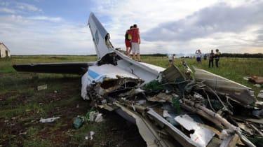 Plane crashed in Ukraine