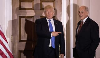 Donald Trump and outgoing White House Chief of Staff John Kelly