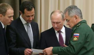Vladimir Putin discusses military tactics with Syria's Bashar al-Assad