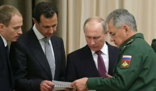 Vladimir Putin discusses military tactics with Syria's Bashar al-Assad