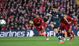 Riyad Mahrez penalty Liverpool 0 Man City 0 Premier League
