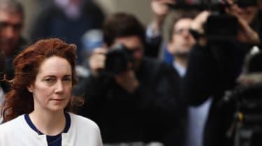 LONDON, ENGLAND - FEBRUARY 20:Former News International chief executive Rebekah Brooks arrives at the Old Bailey on February 20, 2014 in London, England. Downing Street's former director of c
