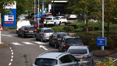 Petrol station queues