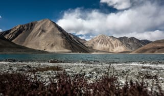 Pangong lake, on the border between China and India