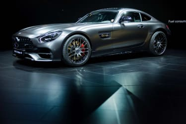 Mercedes-AMG GT C Edition 50 is unveiled during the 2017 North American International Auto Show in Detroit, Michigan, January 9, 2017. / AFP / JIM WATSON(Photo credit should read JIM WATSON/A