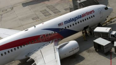 A Malaysian Airlines plane prepares for take-off at Kuala Lumpur International Airport