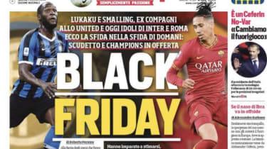 Corriere dello Sport 'Black Friday' headline