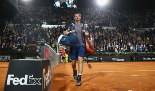 Andy Murray in the Italian Open