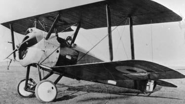 1917:A Sopwith Camel, one of the First World War's best-known British fighter planes.(Photo by Keystone/Getty Images)
