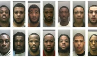 Convicted members of Burger Bar Boys and Johnson Crew