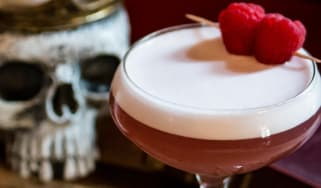 Violets Kill cocktail by Cut Spiced Rum