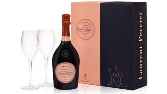 Champagne Laurent-Perrier's Cuvée Rosé gift set