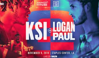 KSI vs. Logan Paul YouTube boxing Los Angeles 9 November 2019 poster