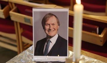 Portrait of David Amess at St Michael's Church in Leigh-on-Sea