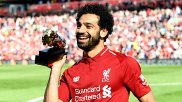 Liverpool's Mohamed Salah won the 2017-18 Premier League golden boot with 32 goals