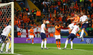 Matthijs de Ligt scored for the Netherlands against England in the Uefa Nations League semi-final