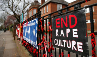 Rape culture scandal placards