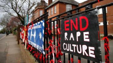 Rape culture scandal placards