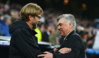 Napoli vs. Liverpool Jurgen Klopp Carlo Ancelotti Champions League