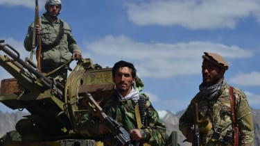 Resistance fighters in the Panjshir Valley