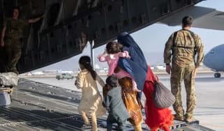 US troops during the evacuation of Kabul airport