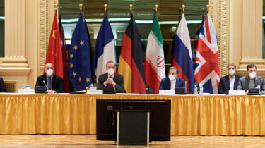 Members of the EU delegation in Vienna yesterday
