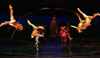 Cirque du Soleil performers in the production of Alegria