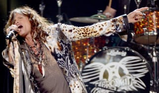 Aerosmith's Steven Tyler performs on stage