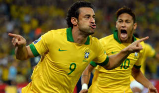 Fred and Neymar of Brazil
