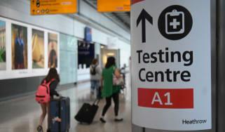 Covid-19 test centre at Heathrow Terminal 5