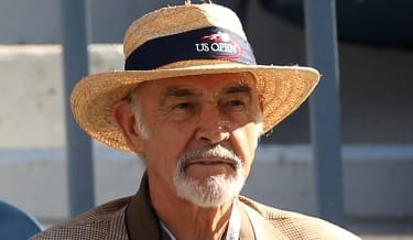 NEW YORK, NY - SEPTEMBER 10:Actor Sean Connery watches the men's singles final match between Andy Murray of Great Britain and Novak Djokovic of Serbia on Day Fifteen of the 2012 US Open at US