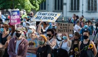 Trans Pride protest