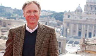 ROME - MAY 03: Writer Dan Brown attends the Rome photocall of 'Angels & Demons' at St Angel Castle on May 3, 2009 in Rome, Italy.(Photo by Elisabetta Villa/Getty Images)